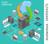 data network cloud computing... | Shutterstock .eps vector #1045524172