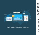 data marketing   data analysis... | Shutterstock .eps vector #1045524892