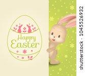 vector cute cartoon bunny and... | Shutterstock .eps vector #1045526932