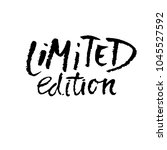 limited edition. ink... | Shutterstock .eps vector #1045527592