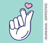 Mini Finger Heart In Flat...