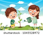 vector illustration of kids... | Shutterstock .eps vector #1045528972