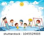 vector illustration of kids... | Shutterstock .eps vector #1045529005