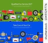 vector horizontal web banners... | Shutterstock .eps vector #1045529776