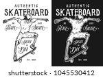 skeleton hipster skater vector... | Shutterstock .eps vector #1045530412