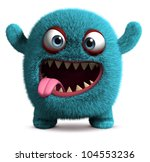 cute furry monster | Shutterstock . vector #104553236