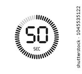 the 50 seconds  stopwatch...   Shutterstock .eps vector #1045535122
