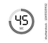 the 45 seconds  stopwatch... | Shutterstock .eps vector #1045535932