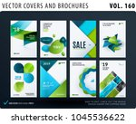 creative design of brochure set ... | Shutterstock .eps vector #1045536622