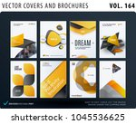 creative design of brochure set ... | Shutterstock .eps vector #1045536625