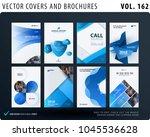 creative design of brochure set ... | Shutterstock .eps vector #1045536628