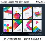 set of design brochure ... | Shutterstock .eps vector #1045536655