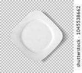 white plate isolated on... | Shutterstock .eps vector #1045538662