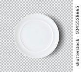 white plate isolated on... | Shutterstock .eps vector #1045538665