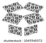 open box pattern organized in... | Shutterstock .eps vector #1045540372