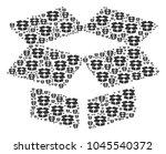 open box pattern organized in...   Shutterstock .eps vector #1045540372