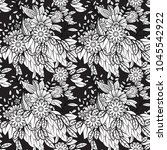floral seamless pattern in...   Shutterstock .eps vector #1045542922