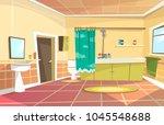 vector cartoon bathroom...   Shutterstock .eps vector #1045548688