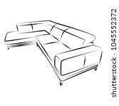 sofa furniture vector isolated... | Shutterstock .eps vector #1045552372