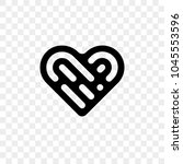 heart logo vector icon.... | Shutterstock .eps vector #1045553596