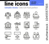 law and justice line icons  ... | Shutterstock .eps vector #1045557505