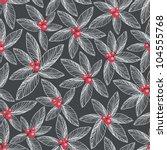 floral seamless pattern on dark ...   Shutterstock .eps vector #104555768