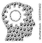intellect gear figure made in... | Shutterstock .eps vector #1045559602
