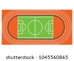 stadium football and running... | Shutterstock .eps vector #1045560865