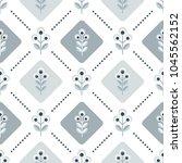 scandinavian floral background  ... | Shutterstock .eps vector #1045562152