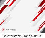 abstract technology geometric... | Shutterstock .eps vector #1045568935