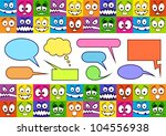 funny colorful emotions and...   Shutterstock .eps vector #104556938