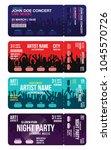 set of concert ticket templates.... | Shutterstock .eps vector #1045570726