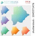 botswana geometric polygonal ... | Shutterstock .eps vector #1045571476