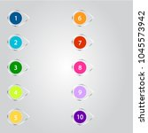 number bullet point markers 1... | Shutterstock .eps vector #1045573942