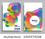covers templates set with... | Shutterstock .eps vector #1045574338