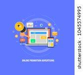 flat vector   online... | Shutterstock .eps vector #1045574995