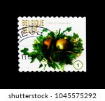 Small photo of MOSCOW, RUSSIA - NOVEMBER 26, 2017: A stamp printed in Belgium shows Christmas & New Year - Right imperforate, serie, circa 2009
