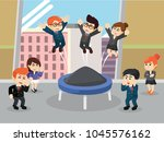 business people playing... | Shutterstock .eps vector #1045576162