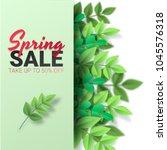 spring sale floral advertizing... | Shutterstock .eps vector #1045576318