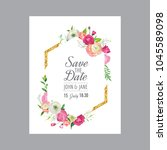 save the date card template... | Shutterstock .eps vector #1045589098
