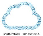 cloud composition composed in... | Shutterstock .eps vector #1045593016