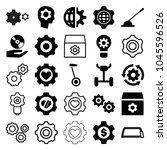 gear icons. set of 25 editable... | Shutterstock .eps vector #1045596526