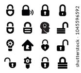 keyhole icons. set of 16... | Shutterstock .eps vector #1045596592