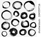 Different Grunge Rings Vector