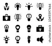 lightbulb icons. set of 16... | Shutterstock .eps vector #1045597666