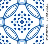 seamless blue and white pattern ... | Shutterstock .eps vector #1045598668
