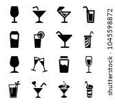 martini icons. set of 16... | Shutterstock .eps vector #1045598872