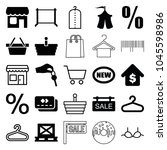 sale icons. set of 25 editable...   Shutterstock .eps vector #1045598986