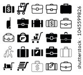 briefcase icons. set of 25... | Shutterstock .eps vector #1045599826