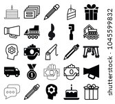 pictograph icons. set of 25... | Shutterstock .eps vector #1045599832